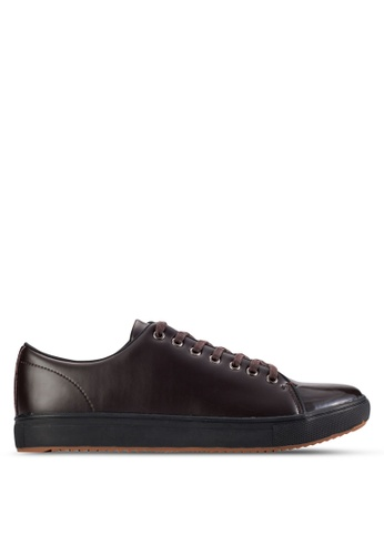 UniqTee brown Patent Leather Low-Top Sneaker UN097SH84KGHMY_1