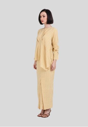 MIMPI KITA yellow Cassia Bias Kurung B7239AA61C7D17GS_1