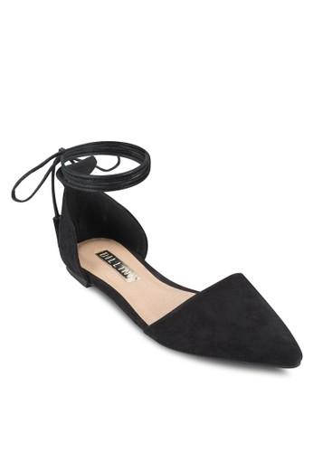 Saviozalora 台灣ur 繫帶側鏤空平底鞋, 女鞋, 鞋