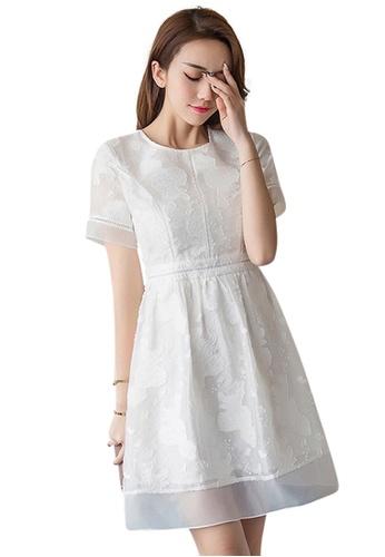 Sunnydaysweety white New White Short Sleeves One Piece Mini Dress UA060680-0 BA401AA475E061GS_1