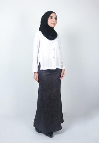 Ladies Jeans black Stylish Long Skirt C226BAAD1DCE79GS_1