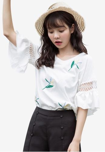 Shopsfashion white Embroidery Blouse 3DB58AA75EF017GS_1