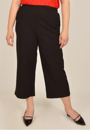 Cheetah black Arissa Plus Size Ankle Length Culotte Pants - ARS-11172 - B01 90BEFAAFC81126GS_1