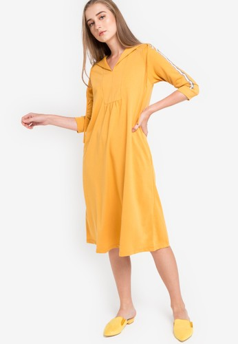 GRAPHIS yellow Hooded Dress BB7A8AACD468F2GS_1