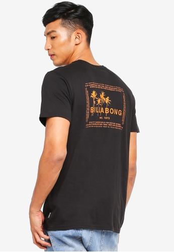 Billabong 黑色 短袖印花T恤 0764BAA6EFE317GS_1