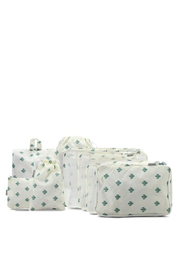 Bagstationz beige Premium Travel Bag And Pouch Set BA607AC0SRLWMY_1