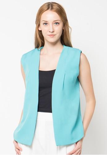 Raspberry blue Viola Slleeveless Vest RA572AA46PTXID_1
