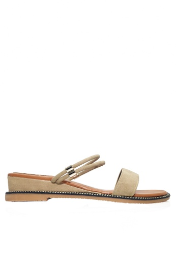 Twenty Eight Shoes 米褐色 兩種穿著方式的矮跟鞋 VSZ07 2F4A3SHEC12A0BGS_1
