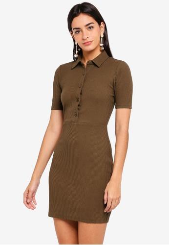 ZALORA brown Buttoned Down Dress 6FD2CAA0DACFB0GS_1