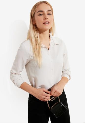 Trendyol white Basic Shirt 56EB2AA0AD38F8GS_1