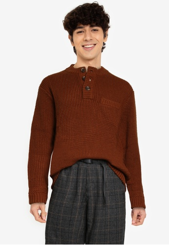 niko and ... brown Knit Pullover BFFEDAA159D9C3GS_1