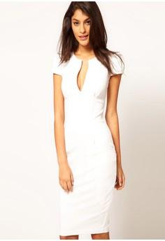 Women's New White Short Sleeve Dress