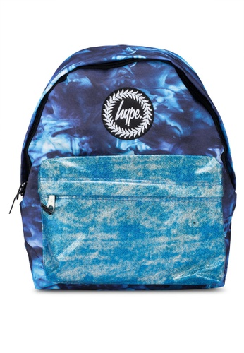 Just Hype blue Ocean Glitter Backpack 39A70AC63F3B1FGS_1