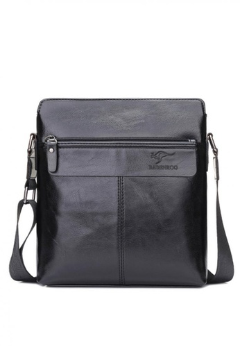 Lucky JX black Men's Raden 2 in 1 Leather  Wallet and Crossbody Bag 149E7ACFA60CE5GS_1