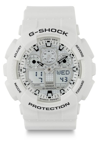 G-Shock white Casio G-SHOCK Jam Tangan Pria - White - Resin - GA-100MW-7ADR 97906AC447B55FGS_1