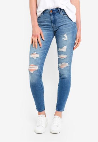 Abercrombie & Fitch blue Medium Destroy Harper Jeans 65425AA079CBFDGS_1