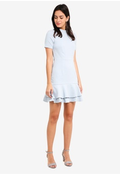 f9bc783cf20ef 49% OFF MDSCollections Edina Flare-Hem Dress In Grey HK  369.00 NOW HK   189.90 Sizes S