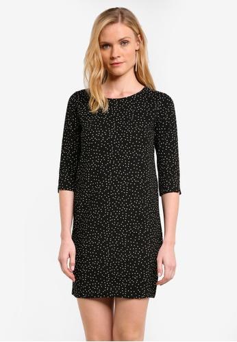 ZALORA black Essential 3/4 Sleeve Shift Dress C8A23ZZC281CA7GS_1