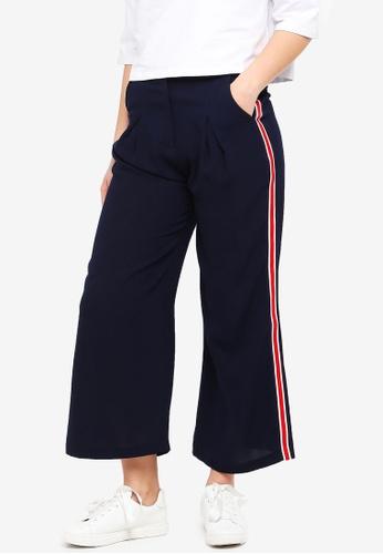 Something Borrowed navy Side Stripe Trim Pants 0319AAA88F27E4GS_1