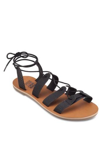 Beach Bresprit 香港igade 多帶繫帶平底涼鞋, 女鞋, 運動