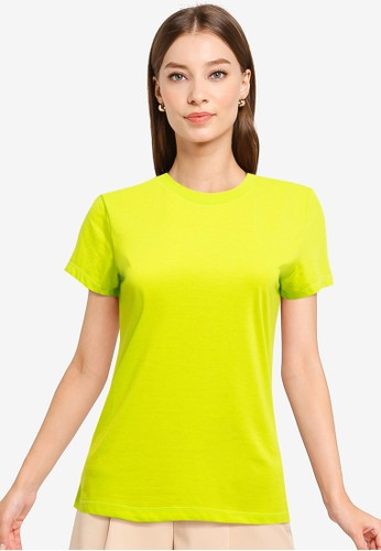 Tolliver green Round Neck Basic Short Sleeve Tee 8F372AAF83F982GS_1