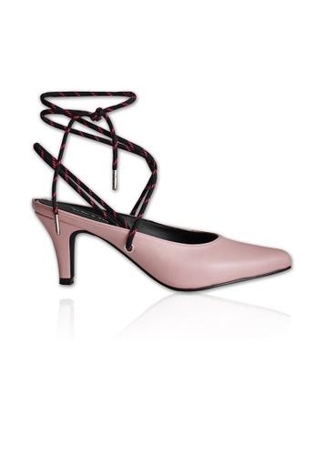 Yoke & Theam pink Emily Two Way Mules DC3A4SH6960065GS_1