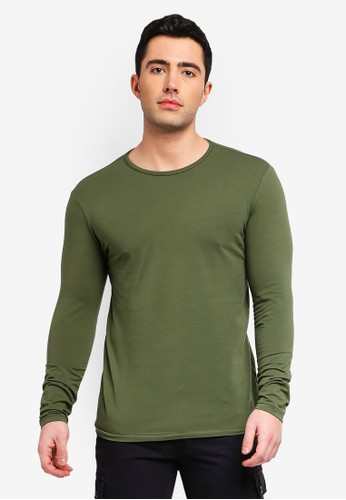 OVS green Long Sleeve Stretch T-Shirt C3288AA60CAF48GS_1