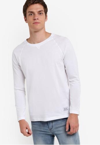UniqTee white Eco Fabrics Raglan Long Sleeve Tee UN097AA44REPMY_1