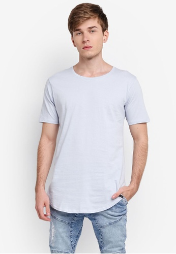 Factorie grey The Curved Tall Tee FA880AA0SKM1MY_1