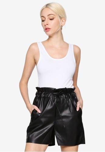 Noisy May white Kerry Sleeveless Bodysuit 0978BAA887142AGS_1