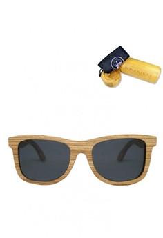 ZebraWood Frame, Classic Grey Lens, 145mm Wooden Sunglasses