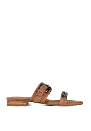 London Rag brown Freida Double Strap Flat Sandals 59E72SH111CC52GS_1