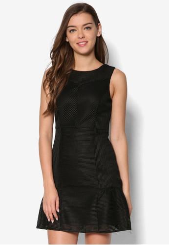 暗紋無袖及膝洋裝, esprit手錶專櫃服飾, 洋裝