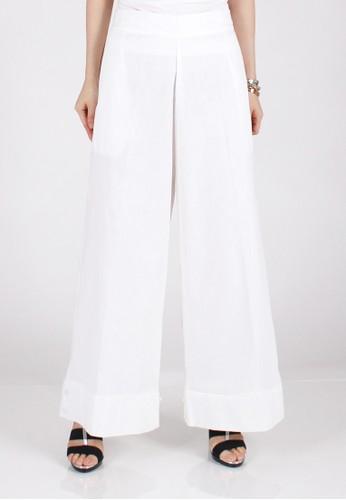 Meitavi's 2-Way Cotton Linen Culotte Jogger Pants - White