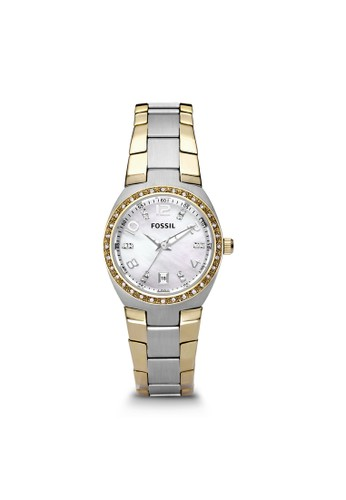 Fossil white Fossil Sport - White Mop Round Dial 28mm - Bracelet - Silver & Gold - Jam Tangan Wanita - AM4183 01E8CAC34A0647GS_1