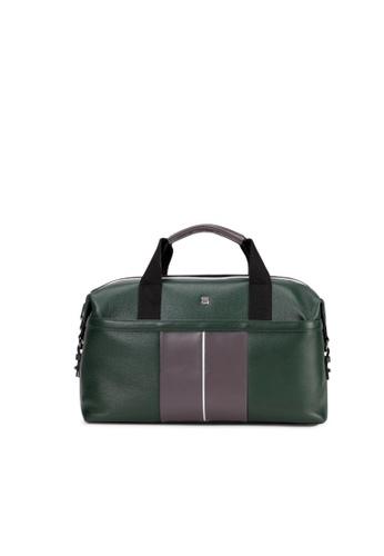 Charles Berkeley green Charles Berkeley CLAYTON Men's Leather Duffle Bag Hand Carry (PB-18139) 014A6AC4E9F1B7GS_1