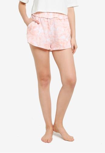 Cotton On Body multi Shirred Waist Beach Shorts A1B73AAF04599AGS_1