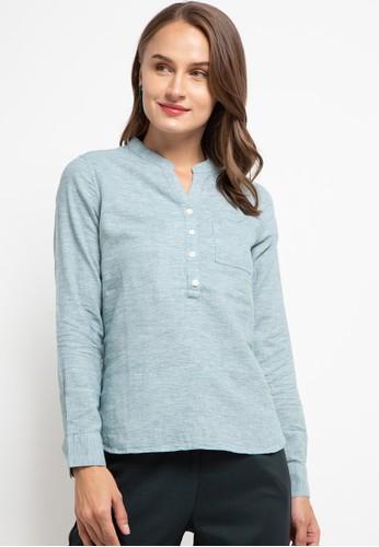 Giordano green Women's Linen Shirt 3ABFEAA9DF875FGS_1
