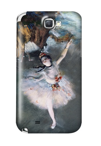 Wonder Cover multi Prima Ballerina Matte Hard Case for Samsung Galaxy Note 2 WO617AC11ZEMPH_1