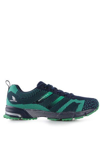 Homypro green and navy Motion Running Shoes HO843SH41MSOID_1
