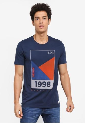 ESPRIT navy Short Sleeve T-Shirt B5990AACF66CD2GS_1