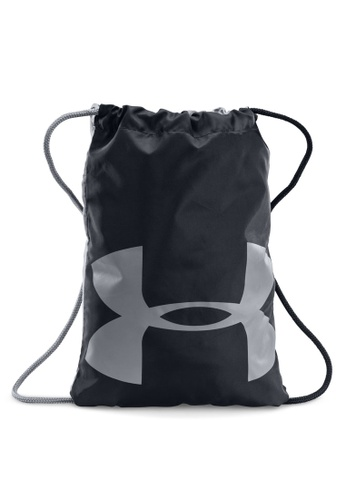 Under Armour black and grey UA Ozsee Sackpack UN337AC13ANMMY_1
