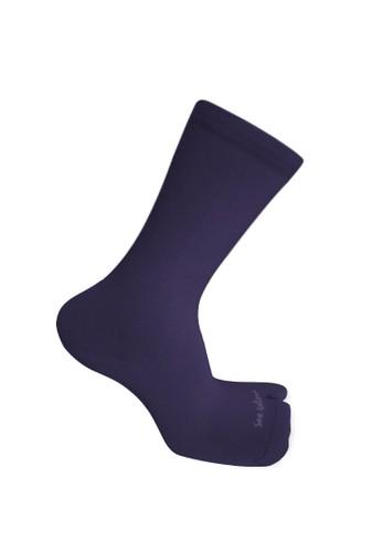 SOXGALERI purple Sox Galeri Anti-Bacterial Cotton Thumb Crew Socks for Women FE992AAAEC5802GS_1