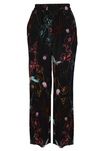 POPLOOK black Sharmae Straight Cut Pants 3BBF3AA03A2249GS_1