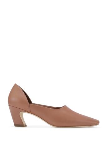RABEANCO 粉紅色 RABEANCO NUI 中跟方頭鞋 - 平滑粉紅色 612F6SH1517767GS_1