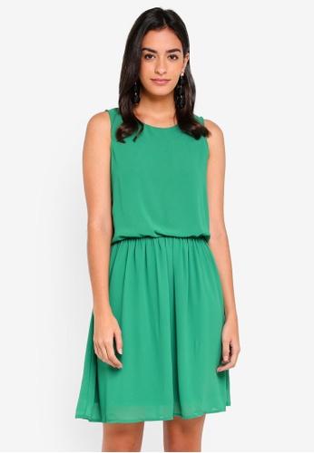 Vero Moda green Mia Sleeveless Lace Dress 7A66EAAD1E95ACGS_1