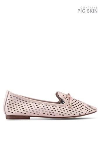 Keddo 粉紅色 雕紋平底鞋 22D90SH008F5A8GS_1