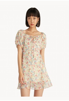 4f829e01fe5 Pomelo multi Mini Floral Puffed Sleeve Dress - Cream 82A63AA363D5A9GS_1