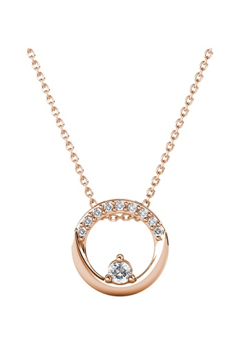 Her Jewellery gold Her Jewellery Clarine Pendant (Rose Gold) embellished with Crystals from Swarovski FF530AC239C72EGS_1