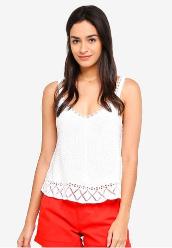ONLY white Kyra Sleeveless Top 96FF6AA2A4CF37GS_1